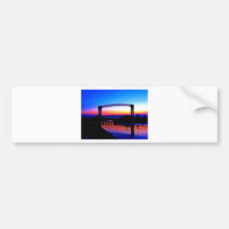 Sunset behind a Bridge Bumper Sticker