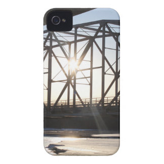 Sunset behind the bridge to Palmer Alaska iPhone 4 Case