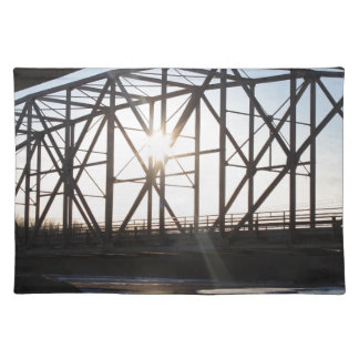 Sunset behind the bridge to Palmer Alaska Placemat