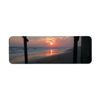 Sunset Beneath the Pier Return Address Label