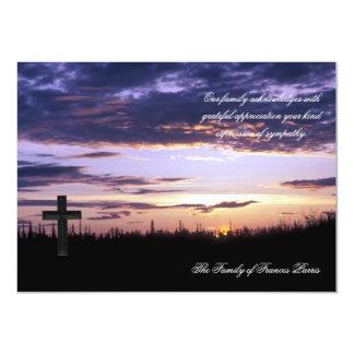 Sunset - Bereavement Thank You Notecard 11 Cm X 16 Cm Invitation Card