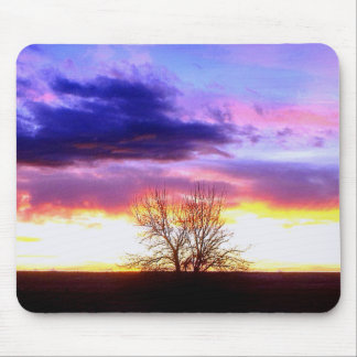 Sunset beyond the Tree_ Mousepads