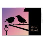 Sunset Birds Change of Address Cards