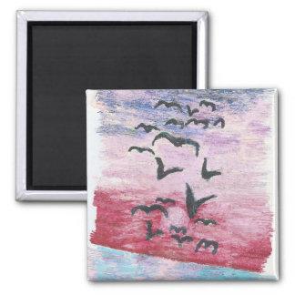 sunset birds magnet