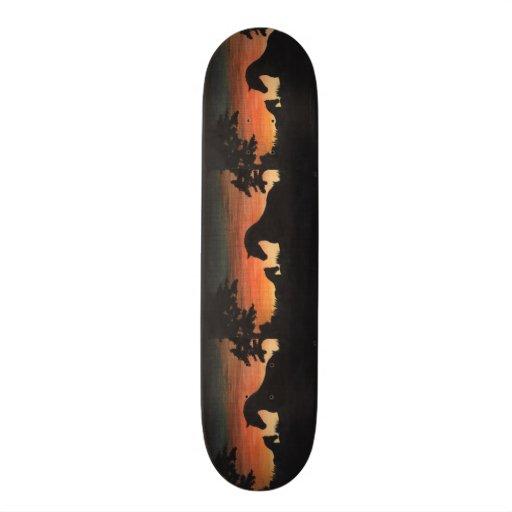 'Sunset Birth' Horse Collection Skateboard