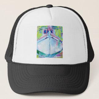 Sunset Boat Trucker Hat