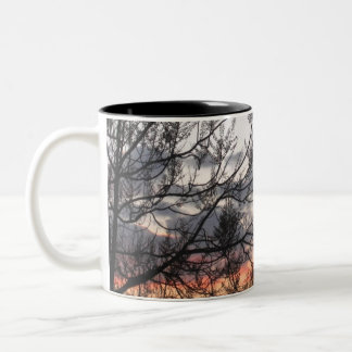 Sunset Branches Two-Tone Mug