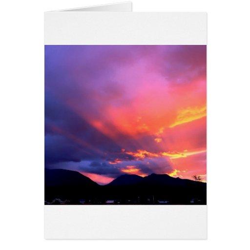 Sunset Break The Clouds Card