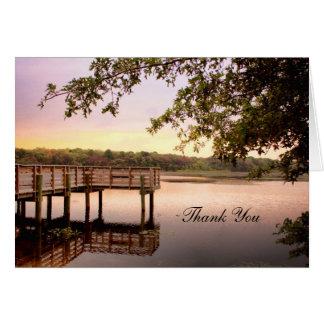 Sunset Bridge Thank You Card