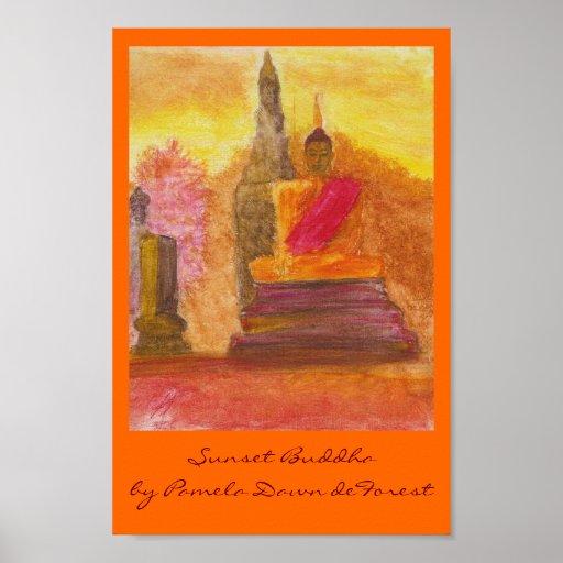 Sunset Buddha Posters