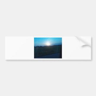 Sunset Car Bumper Sticker