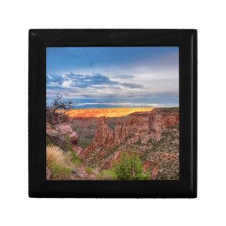Sunset Burning Ridge Colorado National Monument Gift Box