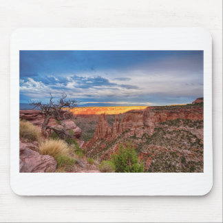 Sunset Burning Ridge Colorado National Monument Mouse Pad