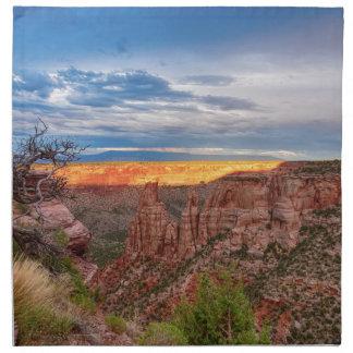 Sunset Burning Ridge Colorado National Monument Napkin