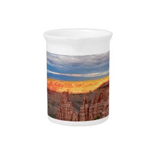 Sunset Burning Ridge Colorado National Monument Pitcher