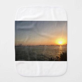 sunset burp cloth