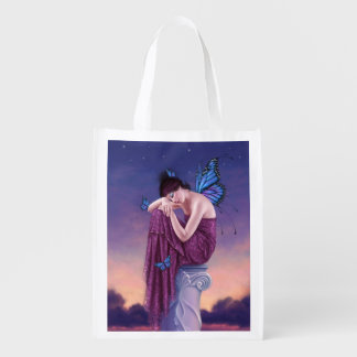 Sunset Butterfly Fairy Reusable Grocery Bag