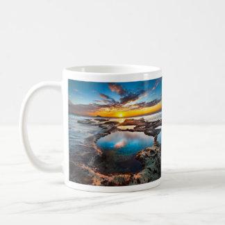 Sunset By Sea Basic White Mug