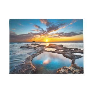 Sunset by Sea Doormat