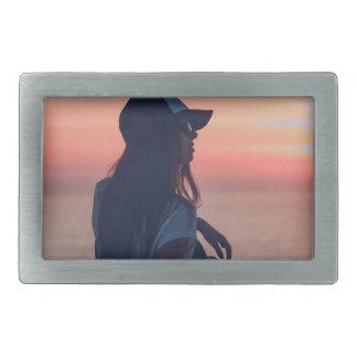 sunset by the beach belt buckles