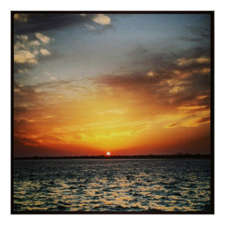 Sunset By The Sea Poster