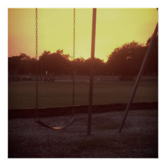 Sunset by the Swingset Poster