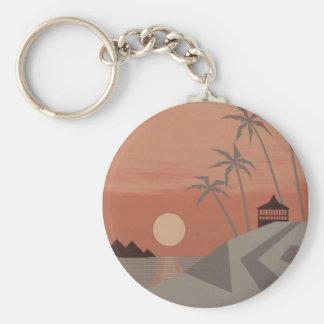 SUNSET CABANA keychain