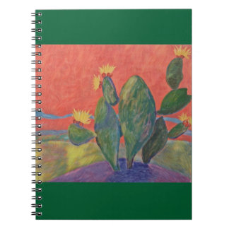 Sunset Cactus Notebook