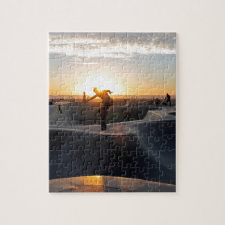 Sunset California Dreams Skateboard Park Freestyle Jigsaw Puzzle