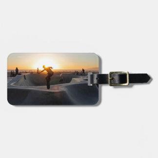Sunset California Dreams Skateboard Park Freestyle Luggage Tag