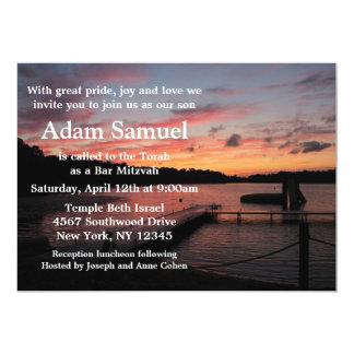 Sunset Camp Lake Invitation