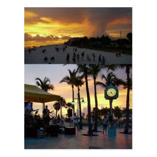 Sunset Celebration Postcard - Fort Myers Beach