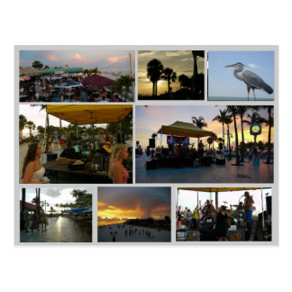 Sunset Celebration Postcard - in Fort Myers Beach