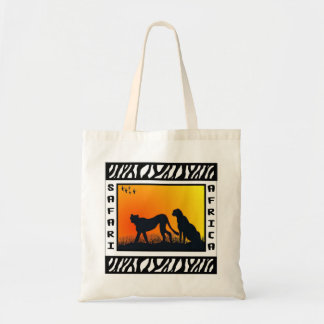 Sunset Cheetahs Safari tote bag