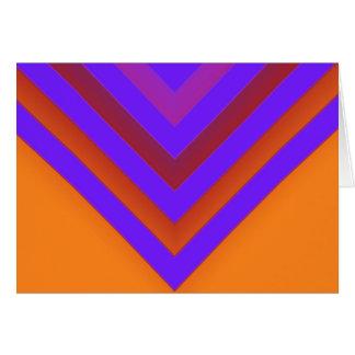 Sunset Chevron Card