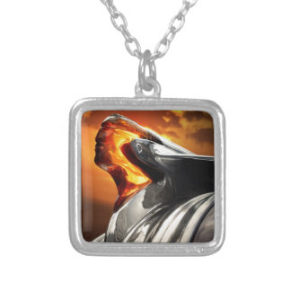 Sunset Chief Pontiac Chieftain Classic Car Silver Plated Necklace