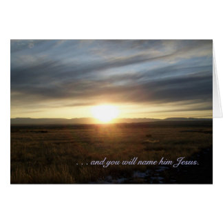 Sunset Christmas Day Greeting Card - Luke 1:31,32