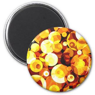 Sunset Circles Refrigerator Magnets