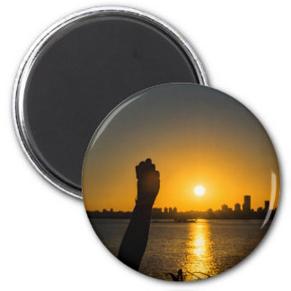 Sunset Cityscape Scene, Montevideo, Uruguay Magnet