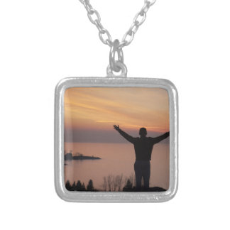 Sunset Cliff Silver Plated Necklace