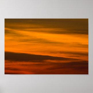 Sunset Closeup, Michigan. Poster