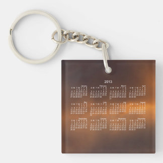 Sunset Clouds 2013 Calendar Square Acrylic Keychains