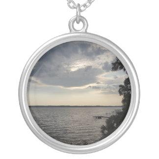 Sunset Clouds Cayuga Lake NY Custom Necklace