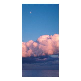Sunset clouds photo card