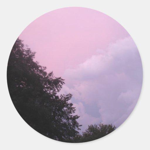 Sunset Clouds Round Sticker