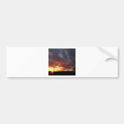Sunset Cloudy Dusk Bumper Stickers