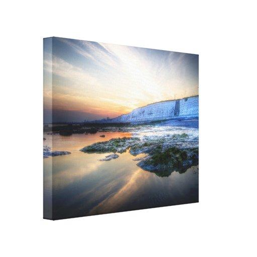Sunset Coast Stretched Canvas Print