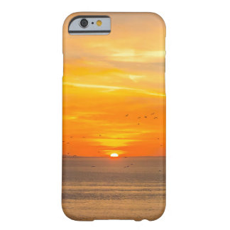 Sunset Coast with Orange Sun and Birds Barely There iPhone 6 Case