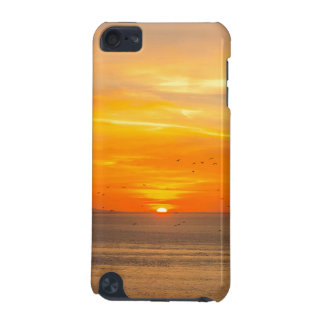 Sunset Coast with Orange Sun and Birds iPod Touch (5th Generation) Cover