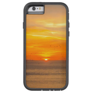 Sunset Coast with Orange Sun and Birds Tough Xtreme iPhone 6 Case